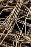 Steel Rods for Construction. Close up of a large cluster of steel rods intended for use at a construction site Stock Photography