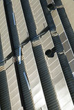 Rooftop Solar Panels Royalty Free Stock Photography