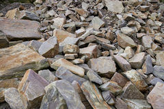Close up of large rocks at quarry Royalty Free Stock Photos