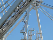 Close up of large shipping crane Stock Image