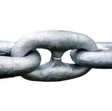 Close up of Large steel ships anchor chain Stock Image