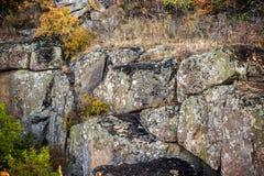 A big stones. Close-up a large stones at the canyon. Arbuzinskiy Canyon, Nikolaev region, Ukraine Royalty Free Stock Photo