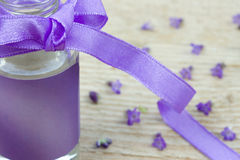 Close up of lavender oil Stock Images