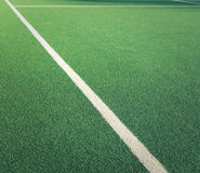 Close-up Of Lawn Tennis Court Lines. White Lines On Grass Lawn Tennis Club Court With Copy Space Royalty Free Stock Photos