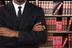 Close-up Of A Lawyer In Office. Close-up Of A Male Lawyer With Arms Crossed In Office stock image