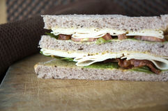 Close up layer of sandwich Stock Image