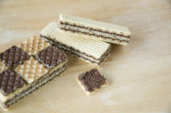 Close up layer of wafers Stock Photos
