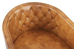 Close-up of leather armchair Royalty Free Stock Images