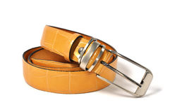 Close up leather belt Stock Images