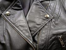 Close up leather jacket Stock Photos