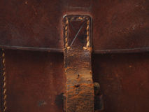 Close up of leather satchel Royalty Free Stock Photos