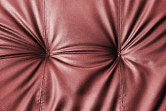 Close up of leather of sofa Royalty Free Stock Images