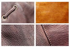 Close up of leather texture Royalty Free Stock Images