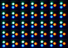 Close up of LED component in Panel Stock Photography