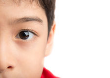 Close up left eye of a little boy Royalty Free Stock Photo