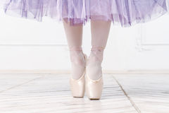 Close-up Legs Of Young Ballerina Royalty Free Stock Images
