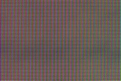 Close-up LEIDENE gloeilampendiode van het schermvertoning van de computermonitor Royalty-vrije Stock Foto's