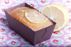 Close-up Lemon Cake Stock Image