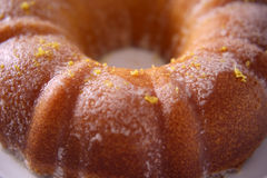 Close up of a lemon cake with shallow depth of field Stock Image