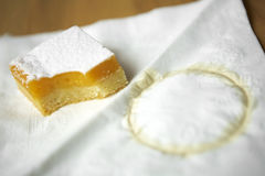 Close up lemon cake Royalty Free Stock Photography