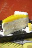 Close up lemon cheese cake Stock Photo