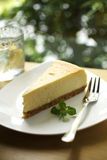 Close up lemon cheese cake Stock Images