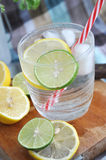 Close up lemon in cool drink Royalty Free Stock Photo
