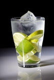 Close up of lemon drink with ice cubes Stock Images
