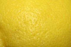 Close up of lemon rind. Yellow lemon skin / rind detail royalty free stock photography