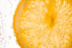Close-up of lemon slice Royalty Free Stock Photography