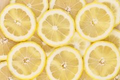 Close up of lemon slices. Macro. Stock Images