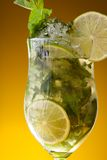 Close-up of lemonade fresh drink Stock Photo