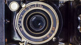 Close-up lens of retro camera Royalty Free Stock Images