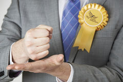 Close Up Of Liberal Democrat Politician Making Passionate Speech Stock Photo