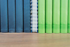 Close-up Library books on shelves Stock Photos