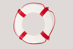 Close up of lifesaver against white background Royalty Free Stock Images