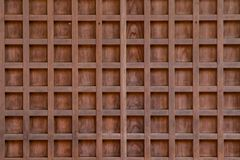 Wood Panel. Close up of a light brown wood panel revealing it`s checkered pattern royalty free stock photo