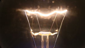 Close up light bulb stock video footage