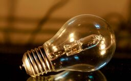 Close up of light bulb Stock Image
