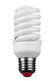 Close up of light bulb on white background Stock Photography