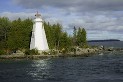 A Close-Up Of The Light House stock images