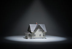 Close up of lighten model house Stock Image