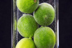 Close up of limes in vase Stock Photo