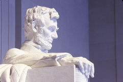 Close up of the Lincoln Memorial sculpture, Washington, DC Royalty Free Stock Images