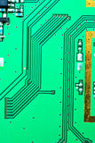 Close up on a line of the old electronic circuit boards backgro stock photos