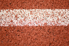 Close-up line on race track Stock Photos