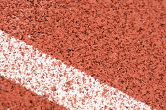 Close-up line on race track Stock Images
