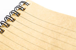 Close up of lined paper in browner. Royalty Free Stock Photography