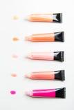 Close up of lip gloss tubes Stock Photo