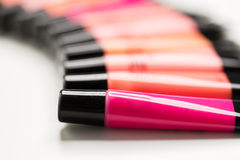 Close up of lip gloss tubes Stock Image